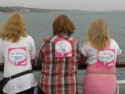 Maria, Delia and Claire looking over the sea from Bournemouth Pier after finishing the Race for Life - June 2013
