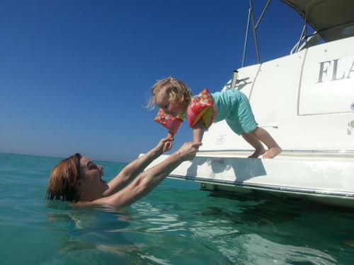 Saskia and I loving life - Red Sea, Oct 2013