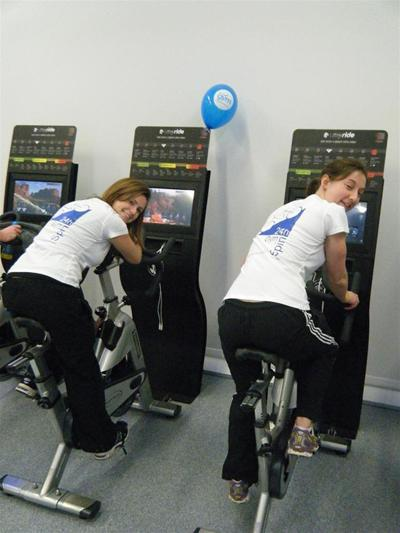 Tanya and Sofia spinning their way from Canterbury to Bournemouth and back in 24 hours