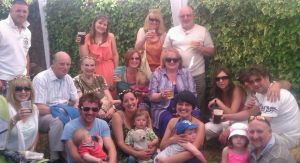 Family, young and old. Friends, new and old. All raising a glass to Ben at the Wimborne Folk Festival - June 2013